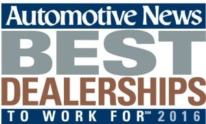 Automotive News Best Dealership to Work for 2016 graphic