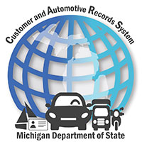 logo for Michigan Department of State's Customer and Automotive Records System