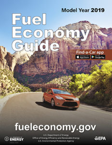 cover of EPAs 2019 fuel economy guide