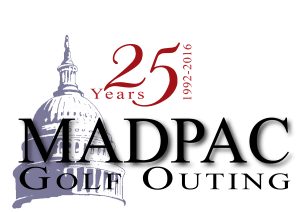 MADPAC golf outing 25th anniversary logo