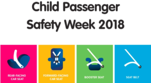 graphic for 2018 child passenger safety week