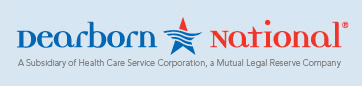 Dearborn National logo, a subsidiary of health care services corporation a mutual legal reserve company
